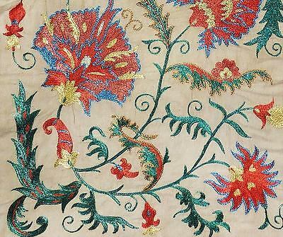Gorgeous Uzbek Silk Handmade Embroidery Long Suzani Bukhara S78