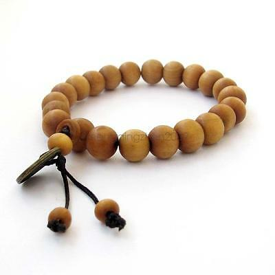 New Arrival Womne Men 10mm Wood Beads Tibet Buddhist Prayer Bracelet Mala Bangle