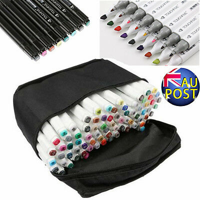 80 Colors Artist Dual Head Sketch Copic Marker Set For School Drawing Sketch Hot