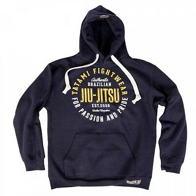 NEW! Tatami Pride and Passion Navy Hoodie Hoody BJJ Brazilian Jiu Jitsu Casual