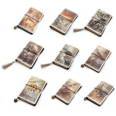Retro Classic Vintage Creative Leather Bound Blank Pages Journal Diary Notebook