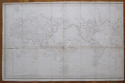 La Perouse Large Original Map World Australia New Zealand - 1797