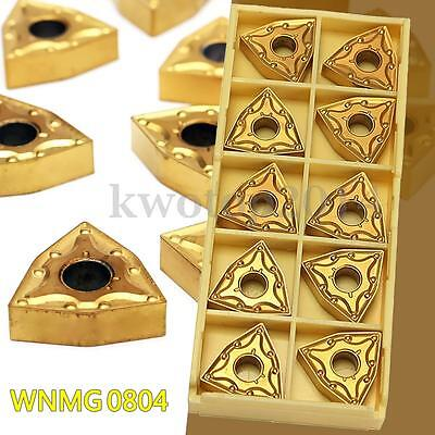 10pcs WNMG0804 Carbide Inserts For WWLNR 1616 MWLNR08 Lathe Turning Tool Holder