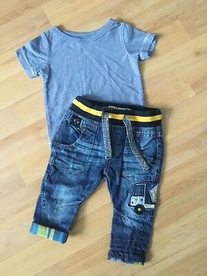 Next Baby Boys Outfit Age 3-6 Months Jeans , T Shirt Small Bundle