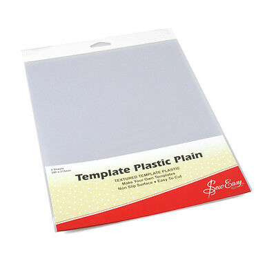 Sew Easy Plain Template Plastic, Pk Of 2 Sheets, 280 x 215mm