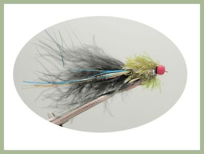 Ally Mcoist Flies, 6 Per Pack Lures, Olive and Black, Size 10 ,For Fly Fishing