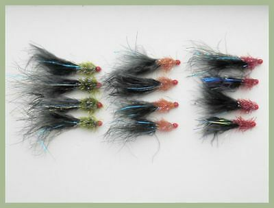 Ally McCoist Fishing Flies, 12 Pack Size 10, Three Colours, For Fly Fishing