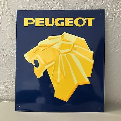 Metal sign peugeot french car vintage