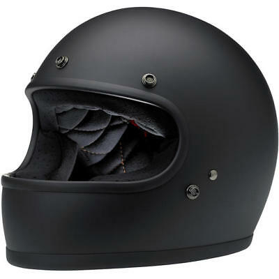 Biltwell Gringo Full Face Helmet - Matt Black **in Stock**