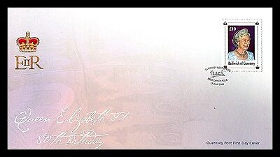 """Guernsey - 2006 """"HM QEII 80th Birthday  """" First Day Cover (+)"""