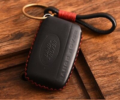 HANDMADE GENUINE Leather Range Rover key chain cover case evoque discovery BR