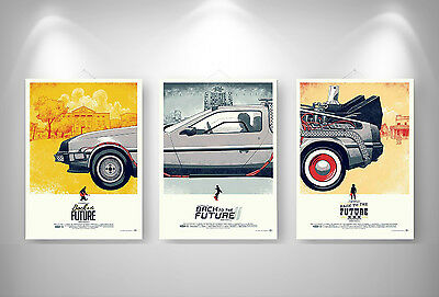 RETOUR VERS LE FUTUR BACK TO THE FUTUR  3 Posters Format A3 297 x 420 mm