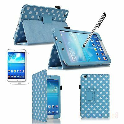 Polka Dots Leather Case for Samsung Galaxy Tab 3 8.0 T310 T3100 T3110
