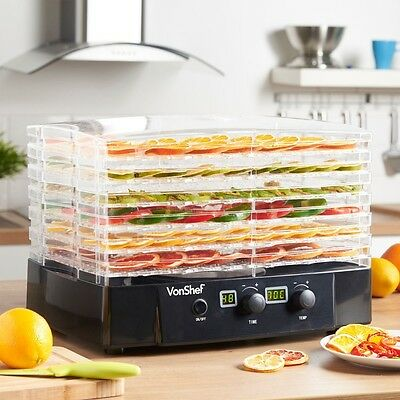 Home Kitchen Food Dehydrator 6 Tier Digital Temperature Thermostat Timer New