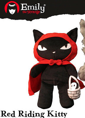 Emily the Strange Red Riding Kitty Plush - NEW