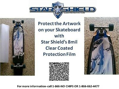 """*** WOW Skateboard Deck Protection Clear Tape 48"""" x 12"""" by Star Shield Solutions"""
