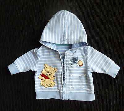 Baby clothes BOY premature/tiny 6lbs/2.7kg Disney Pooh bear zip hood jacket blue