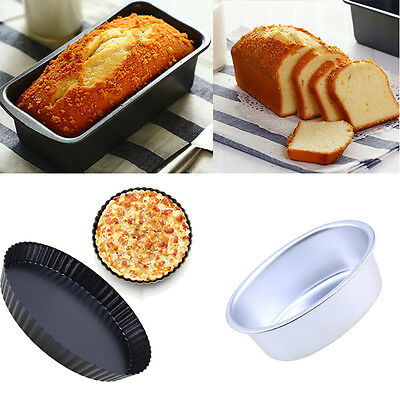 Rectangle Non-stick Toast Bread Cake Baking Mold Loaf Bakeware Round Pizza Pan