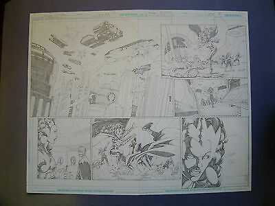 Rebels Vol. 2 #27 pg.4-5 June '11 Original Art by St. Aubin, Two page spread
