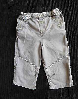Baby clothes BOY 9-12m lightweight grey cotton trousers 2nd item post-free!