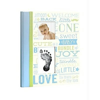 Vintage Memory Book With Clean-touch Ink Pad Blue