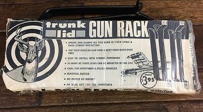 Vtg Trunk Lid Mount Gun Rack Model 5 Unused Complete San Angelo Made USA