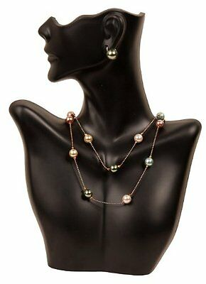 Necklace and Earring Bust Jewelry Display - Black...
