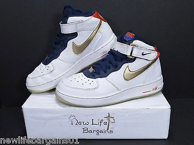 AIR USAGSYouth FORCE NIKE 1 MID Shoes USA Team 6Y Size hQCdxtsr