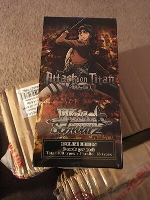 Weiss Schwarz Attack on Titan Brand New Factory Sealed Hobby Booster Box English