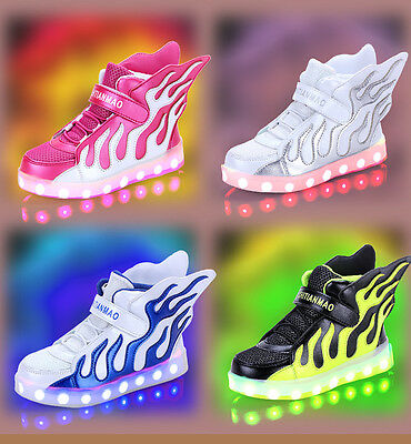 LED Shoes Light Up Boys Girls LED Trainers Wing LED Shoes Casual Kids Sneakers