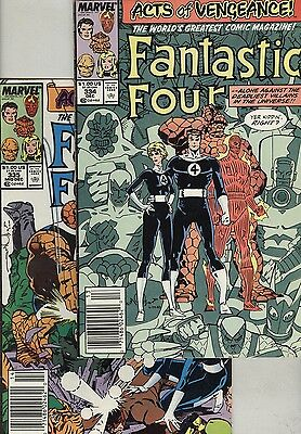 Fantastic Four #343 and #335