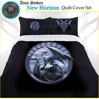Anne Stokes Bedding New Horizon Double Doona With Free small Canvas Print