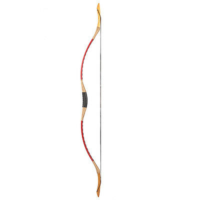 Red Cow LeatherArchery Longbow Traditiona Hunting Horsebow Recurve Bow 15-110lb