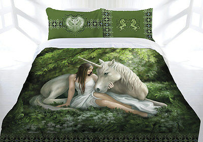 Anne Stokes Bedding Pure of Heart Queen Doona With Free  small Canvas Print