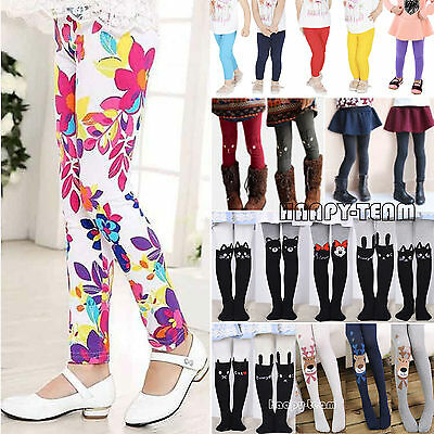 New Children Kids Girls Winter Warm Thick Fleece Leggings Lined Trousers Pants