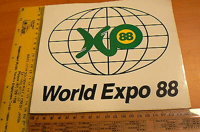 Brisbane EXPO 88 Car Door Stickers World Expo 1988