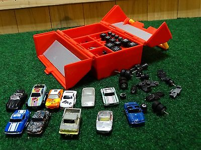 1990 Micro Machines Speed Shop Tool Box Toy Play Action Set 4x4 Car Truck Lot