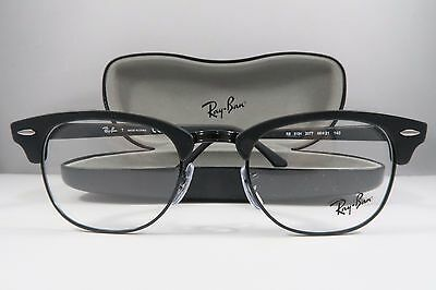 Ray-Ban RB 5154 2077 Clubmaster Black New Authentic Eyeglasses 49mm w/Case