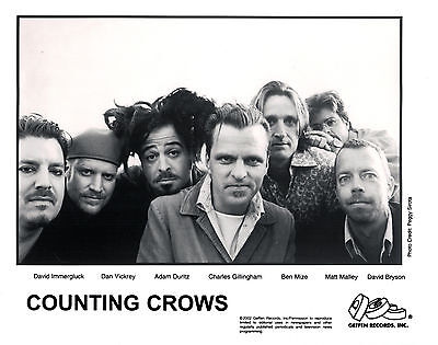 Counting Crows  - 2002  8 x10 B&W Record Company Publicity Photograph!