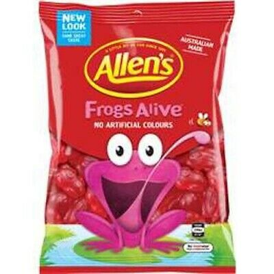 905921 1.3kg BULK BAG OF LOLLIES - ALLEN'S FAMOUS RED FROGS - AUSTRALIAN MADE