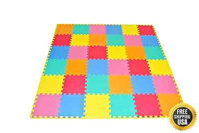 ProSource Kids Puzzle Solid Play Mat New