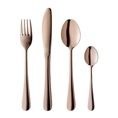 Milano Decor 16 Piece Cutlery Set Rose Gold Brand New