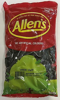 905920 1.3kg BULK BAG OF LOLLIES - ALLEN'S FAMOUS CHICOS! - AUSTRALIAN MADE!!