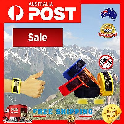 ❤1 X Mozzie Mosquito Natural 30 Day Repellent Wrist Band Waterproof 1 Refill