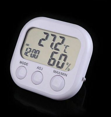Digital LCD Clock  Indoor Temperature Humidity Thermometer Hygrometer  2016