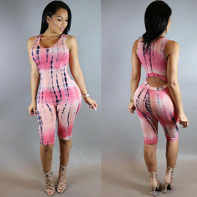 Women Sleeveless Party Jumpsuit Playsuit Bodycon Romper Trousers Clubwear