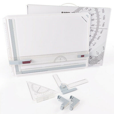 AU PRO Quality A3 Drawing Board Table Set Multi Function Magnetic Clamping Bar