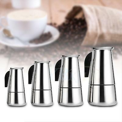 100/200/300/450 ML Stainless Steel Moka Pot Espresso Coffee Maker Stove Home Use