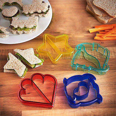 Home DIY Kids Sandwich Bread Crust Cutter Moulds No More Boring Lunch 10 Shapes
