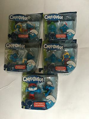 Smurfs Classic 6cm Action Figures Painter Wild Tracker Various (Twin Pack) New